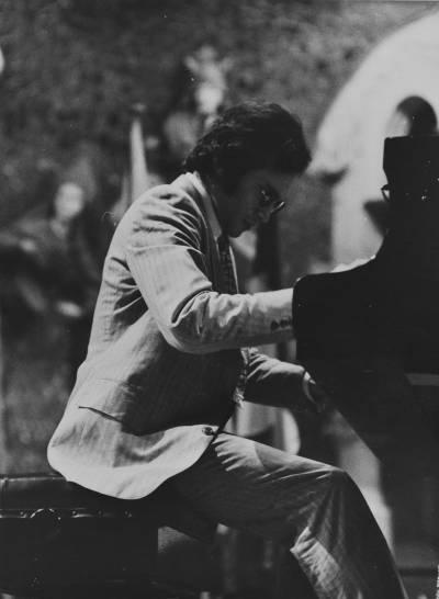 El pianista nordamericà Jonathan M. Purvin, durant la Prova Final de la XIX edició del Concurs Maria Canals, al Palau de la Música Catalana.