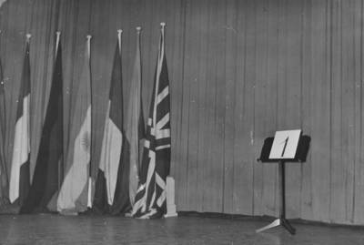 Escenari del Palau de la Música Catalana durant la III edició del Concurs Maria Canals