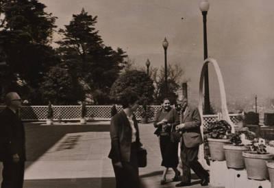 Vlado Perlemuter, Maria Teresa Catà, Maria Canals i Emile Bosquet, a Montjuïc