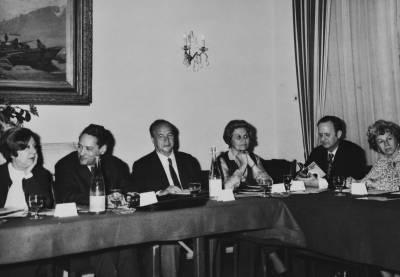 Maria Canals i Rossend Llates  a la XIV Assemblea de la Federació de Concursos Internacionals de Música, celebrada a Ginebra