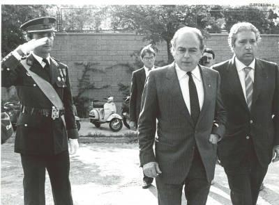 Revista del President de la Generalitat a l'arribada al Centre de Formació