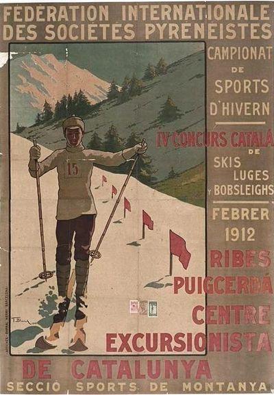 IV Concurs català de skis, luges y bobsleighs, febrer 1912 Ribes, Puigcerdà