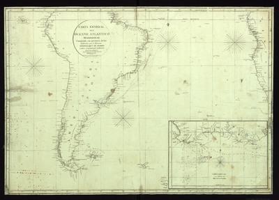 Carta general del Oceano Atlántico meridional