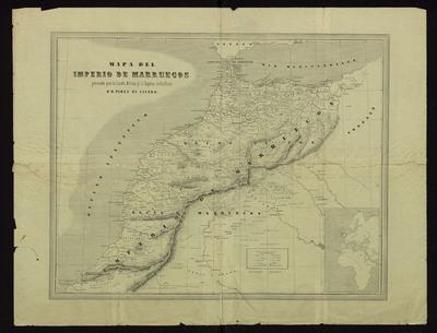 Mapa del Imperio de Marruecos