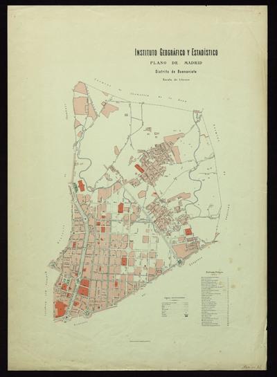 Plano de Madrid : distrito de Buenavista