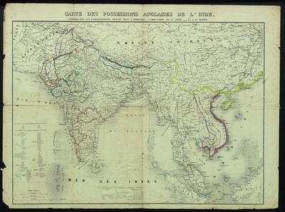 Carte des possessions anglaises de l'Inde