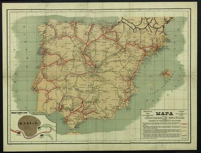 Mapa de los ferrocarriles Españoles