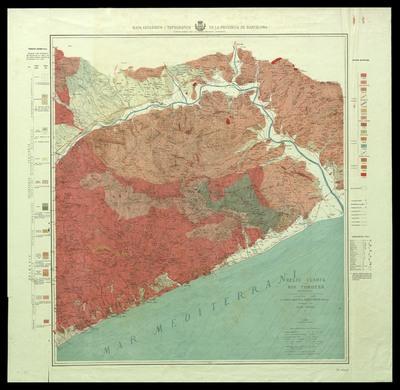 Mapa geològich y topográfich de la provincia de Barcelona