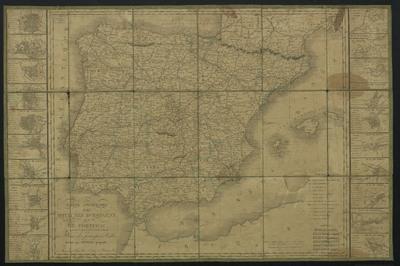 Carte itinéraire des royaumes d'Espagne et de Portugal