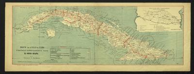 Mapa de la isla de Cuba : trazado expresamente para el Correo Español
