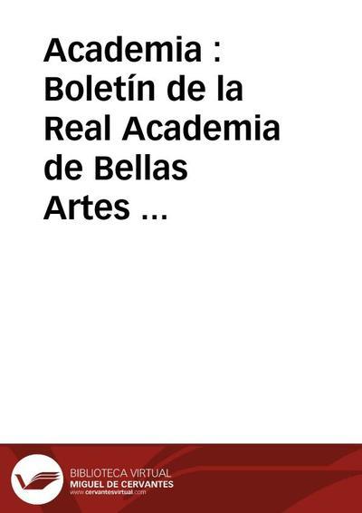 Academia : Boletín de la Real Academia de Bellas Artes de San Fernando. Segundo semestre de 1996. Número 83. Bibliografía