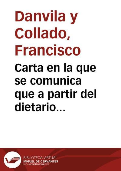 Carta en la que se comunica que a partir del dietario del capellán de Alonso V de Aragón y de los datos de Escolano se ha podido formar un bosquejo de  la genealogía de los Vilanueva y de los Borja.