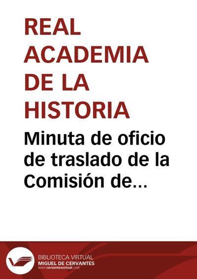 Minuta de oficio de traslado de la Comisión de Monumentos de Valladolid sobre tres pinturas al óleo atribuídas a Rubens.