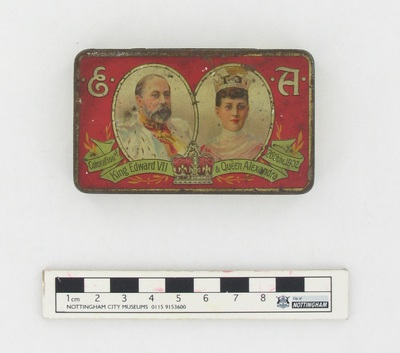 tin: CORONATION OF KING EDWARD VII AND QUEEN ALEXANDRA, 26TH JUNE 1902