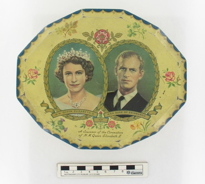 tin/toffee: A souvenir of the coronation of H.M. Queen Elizabeth II.