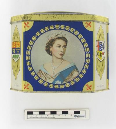 tea caddy: This coronation souvenir tea caddy.