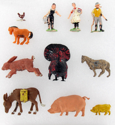 toy farm animals & workers