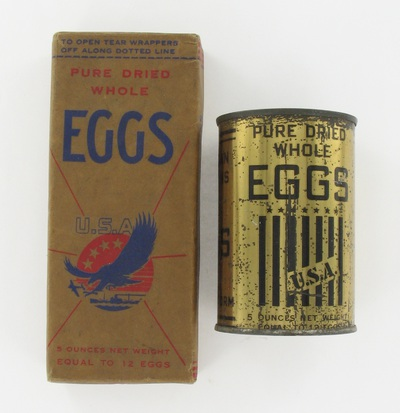 can: Pure Dried Whole Eggs