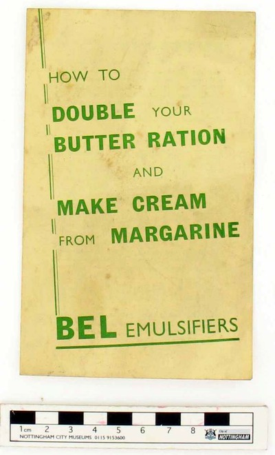 leaflet: How To Double Your Butter Ration And Make Cream From Margarine