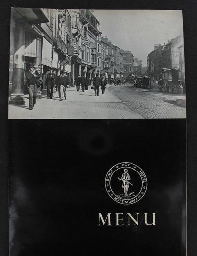 menu: Black Boy Hotel Nottingham