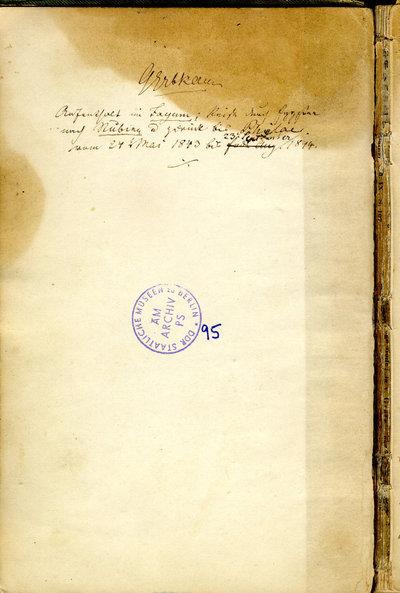 Tagebuch meiner egyptischen Reise