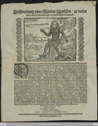 Beschreibung eines Wunder-Menschen/ zu diesen unsern Zeiten entsprungen in der Neapolitanischen Landschafft