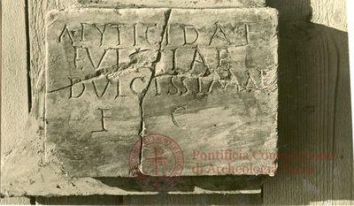 Inscription from Rome, Coem. ad viam Anapo - ICVR IX, 24681