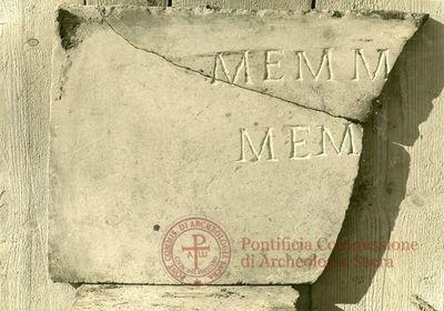 Inscription from Rome, Coem. ad viam Anapo - ICVR IX, 24726.b