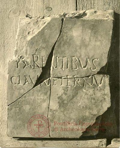 Inscription from Rome, Coem. ad viam Anapo - ICVR IX, 24668