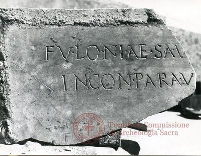 Inscription from Rome, Coem. ad viam Anapo - ICVR IX, 24691