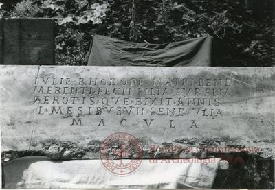 Inscription from Rome, Coem. ad viam Anapo - ICVR IX, 24708