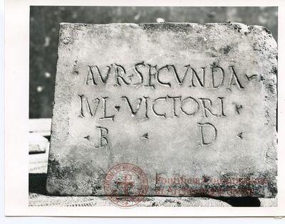 Inscription from Rome, Coem. ad viam Anapo - ICVR IX, 24714