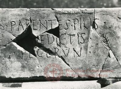 Inscription from Rome, Coem. ad viam Anapo - ICVR IX, 24796