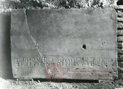 Inscription from Rome, Coem. anonymum ad viam Ardeatinam - ICVR IV, 12398