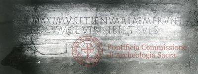 Inscription from Rome, Coem. anonymum ad viam Ardeatinam - ICVR IV, 12318