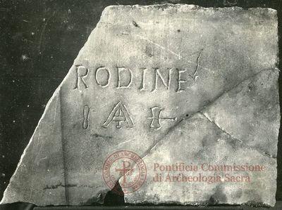 Inscription from Rome, Crypta s.Cornelii - ICVR IV, 9434