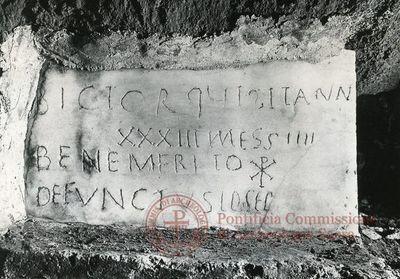 Inscription from Rome, Coem. ad viam D.Compagni - ICVR VI, 15677