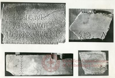 Inscription from Rome, Coem. Domitillae pars inferior - ICVR III, 6648