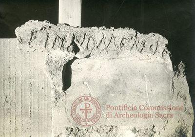 Inscription from Rome, Coem. Domitillae pars inferior - ICVR III, 7066