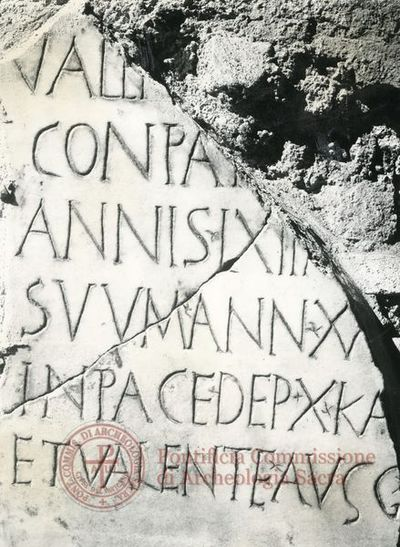 Inscription from Rome, Basilica ss. Nerei et Achillei in coem. Domitillae - ICVR III, 8144