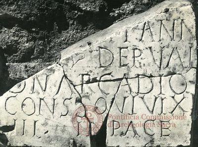 Inscription from Rome, Basilica ss. Nerei et Achillei in coem. Domitillae - ICVR III, 8153