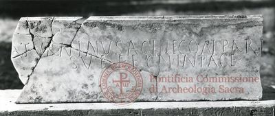 Inscription from Rome, Coem. Iordanorum - ICVR IX, 24332