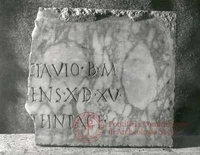 Inscription from Rome, Coem. Iordanorum - ICVR IX, 24458