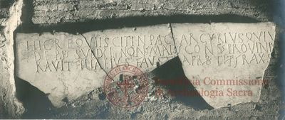 Inscription from Rome, Coem. s.Hippolyti - ICVR VII, 19991