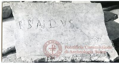 Inscription from Rome, Coem. ss.Marcellini et Petri - ICVR VI, 16479.b