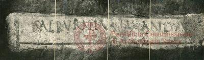 Inscription from Rome, Coem. Novatiani - ICVR VII, 20383