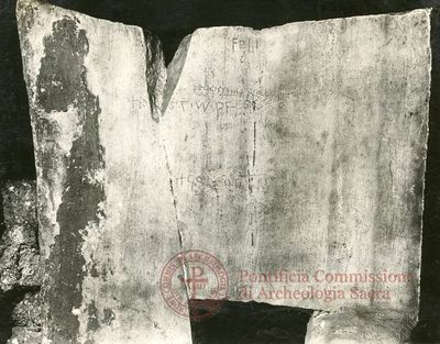 Inscription from Rome, Coem. Praetextati - ICVR V, 13878.3