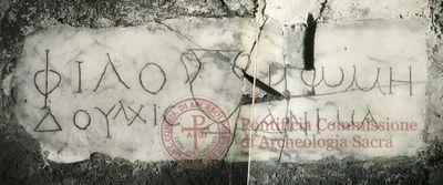 Inscription from Rome, Coem. Praetextati - ICVR V, 14264
