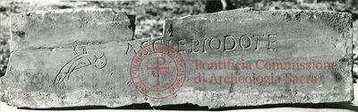 Inscription from Rome, Coem. Priscillae - ICVR IX, 24964