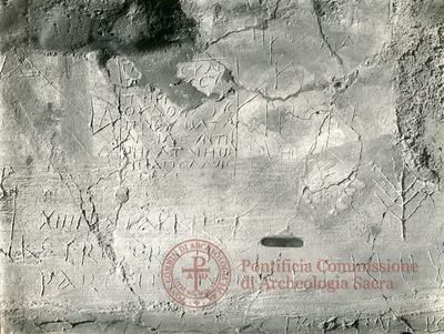 Inscription from Rome, Memoria Apostolorum ad Catacumbas - ICVR V, 13079